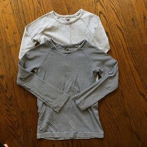Pair of Tea Collection Purity striped tees